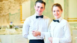 two young waiters making a career in hospitality